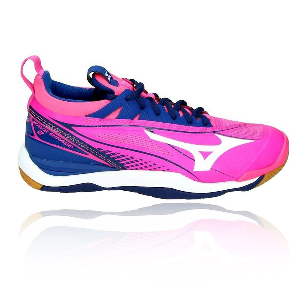 about Sports Mizuno Court Handball Shoes Womens White Details Indoor Blue Mirage Wave 2 Pink k80ONwPnX