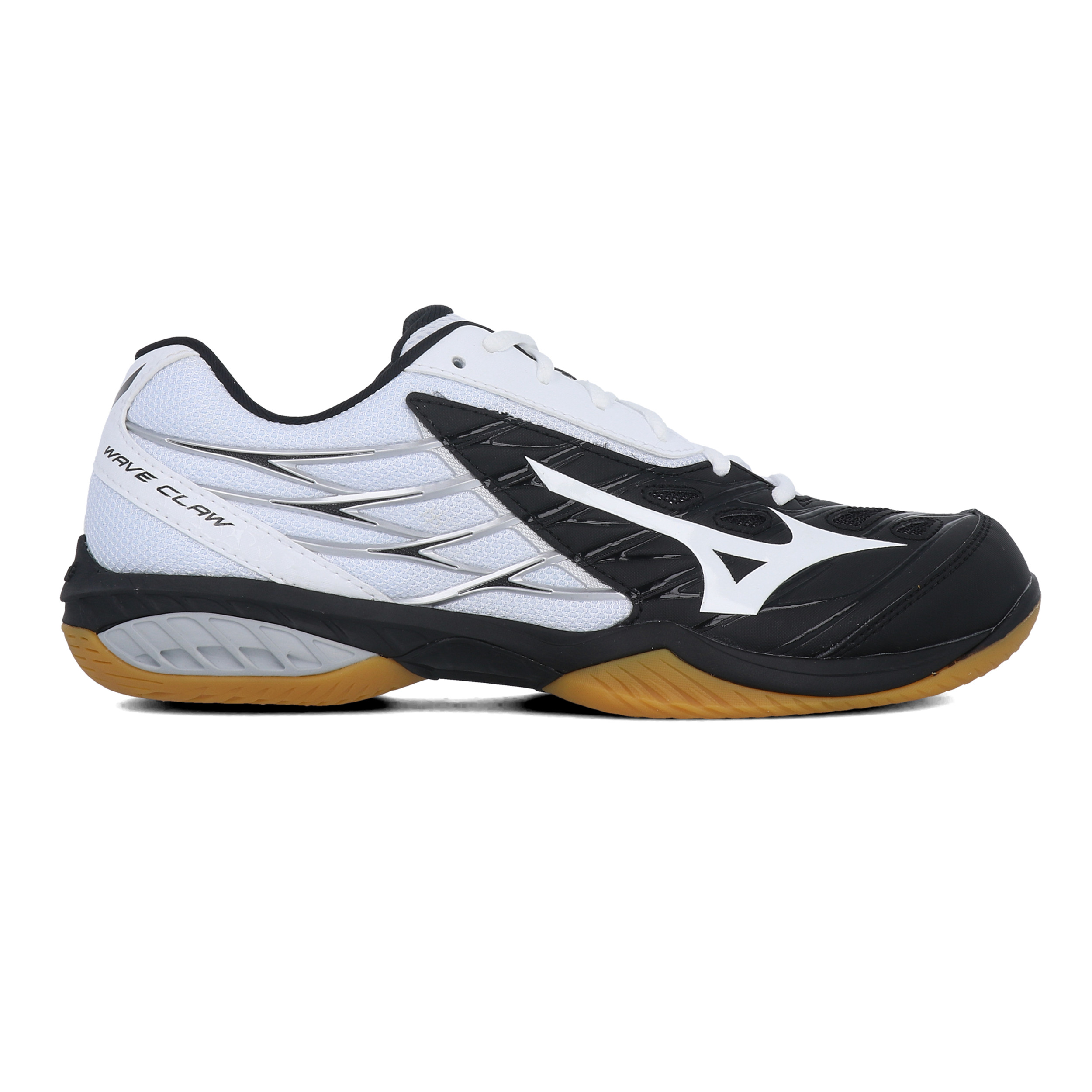 Détails sur Mizuno Hommes Wave Claw Chaussures De Sport En Salles Baskets Noir Blanc