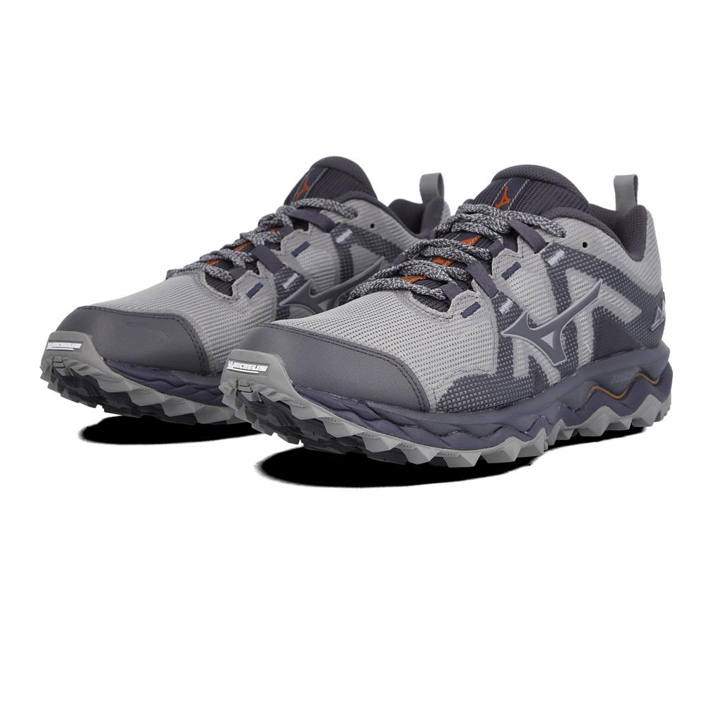 Mizuno Mens Wave Mujin 6 Trail Running Shoes Trainers Sneakers Green Grey