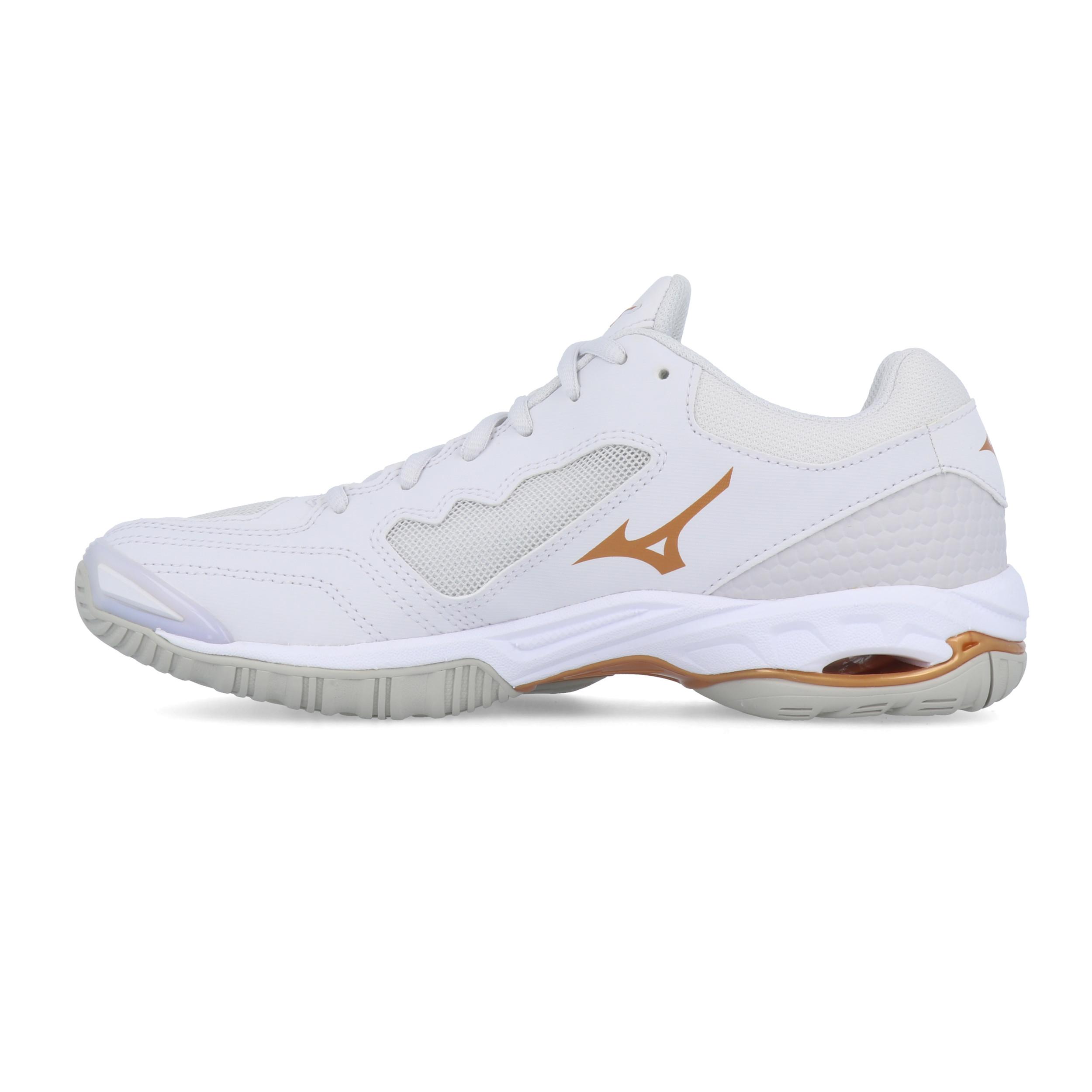 Mizuno Femme Wave Phantom 2 NB Intérieur Cour Chaussures Blanc Sports Baskets