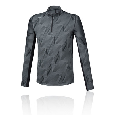 Mizuno Jacquard Graphic Half Zip Running Top