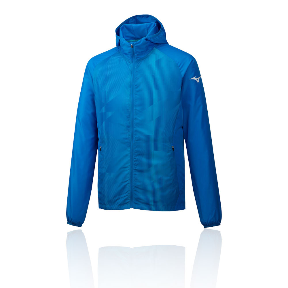 Mizuno Printed Hooded Running Jacket