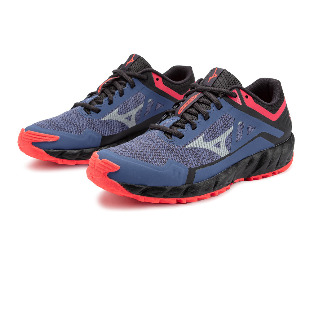 Mizuno Womens Wave Ibuki 3 GORE-TEX Trail Running Shoes Trainers Sneakers Blue