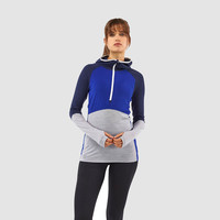 Mons Royale Bella Tech Women's Half Zip Hooded Top - AW18