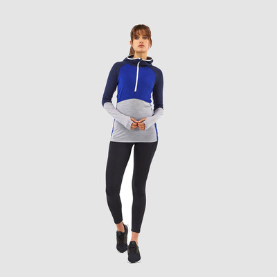 Mons Royale Bella Tech Women's Half Zip Hooded Top