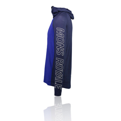 Mons Royale Temple Tech Half Zip Hooded Top - SS19