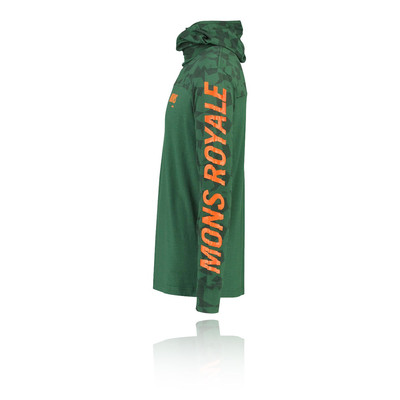 Mons Royale Yotei Powder Hooded Long Sleeve Top - AW19