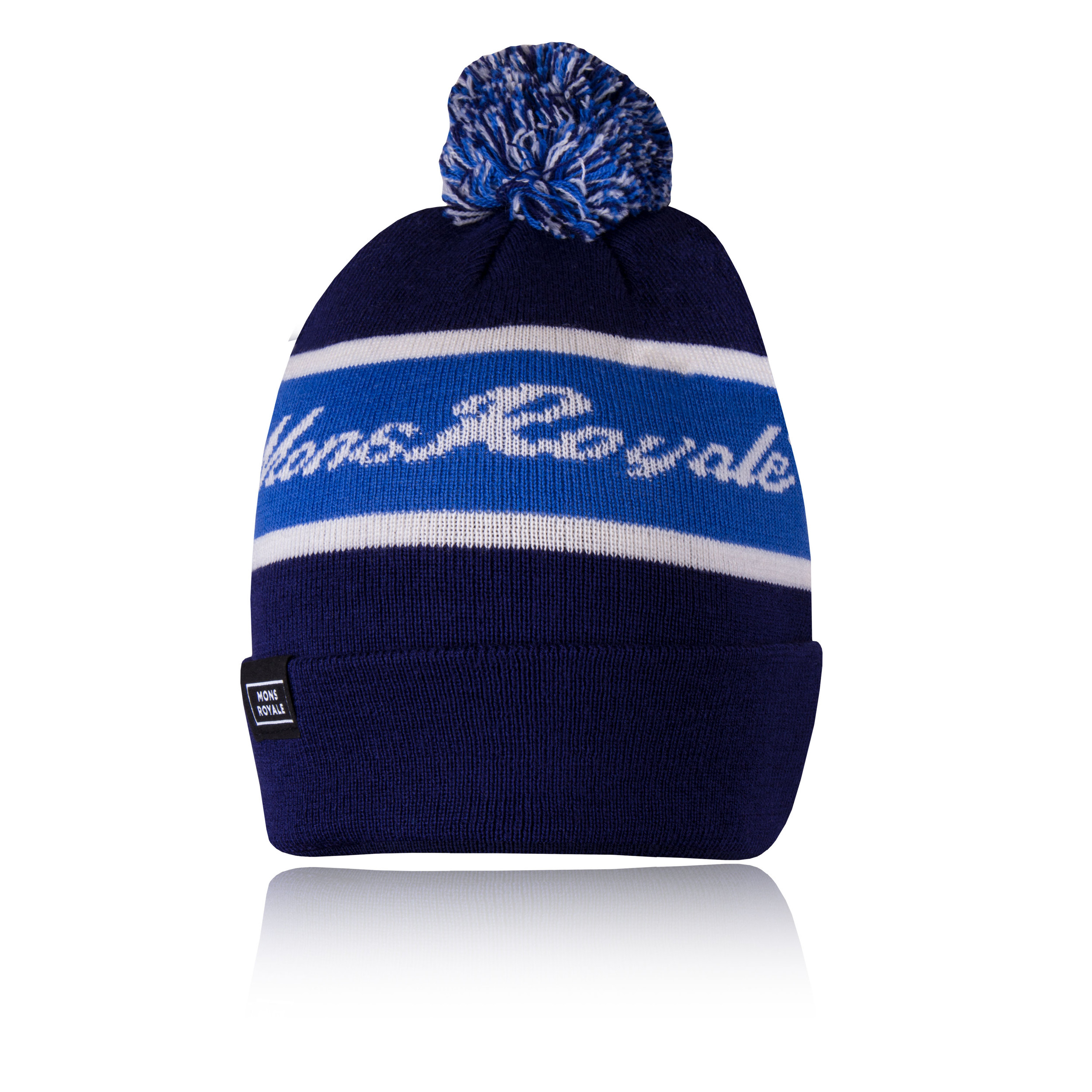 Details about Mons Royale Mens Club Pom-Pom Beanie Blue Navy Sports  Outdoors Headwear 70fc790d2fe