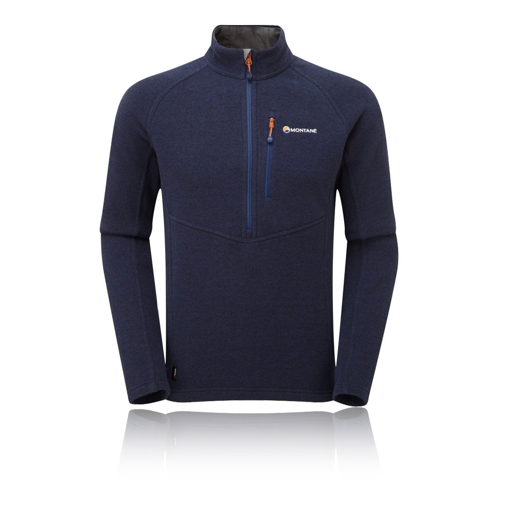 Montane Herren Blau Neutron Pull - On Sweatshirt Sport Outdoor Top Pullover Blau