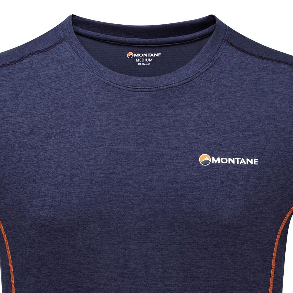 Montane Homme Dart T Shirt Tee Top Blue Sports Extérieur Respirant Léger