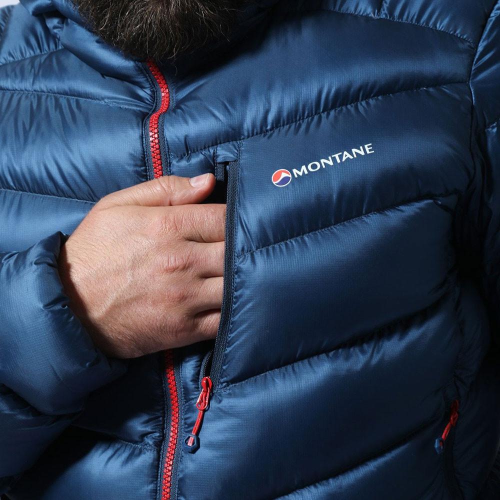 Montane Homme Anti-Freeze Veste Homme Bleu Marine Sports Outdoors full zip à capuche