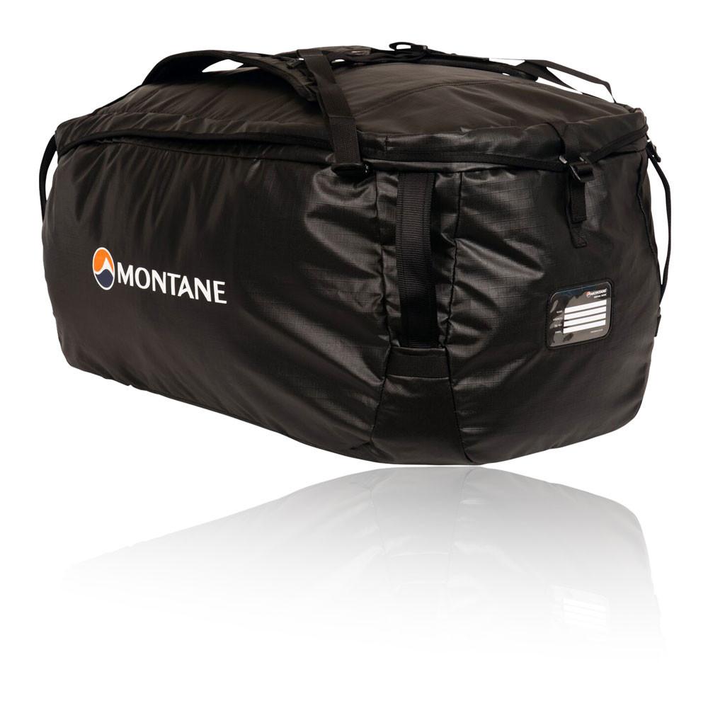 6c3c801d6 Details about Montane Unisex Transition 95L Kit Bag Black Sports Outdoors  Pockets