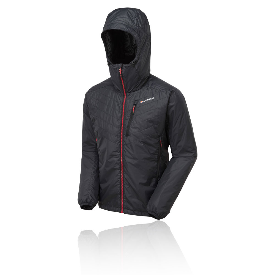 Montane Mens Prism Jacket Top Black Sports Outdoors Full Zip Hooded Warm