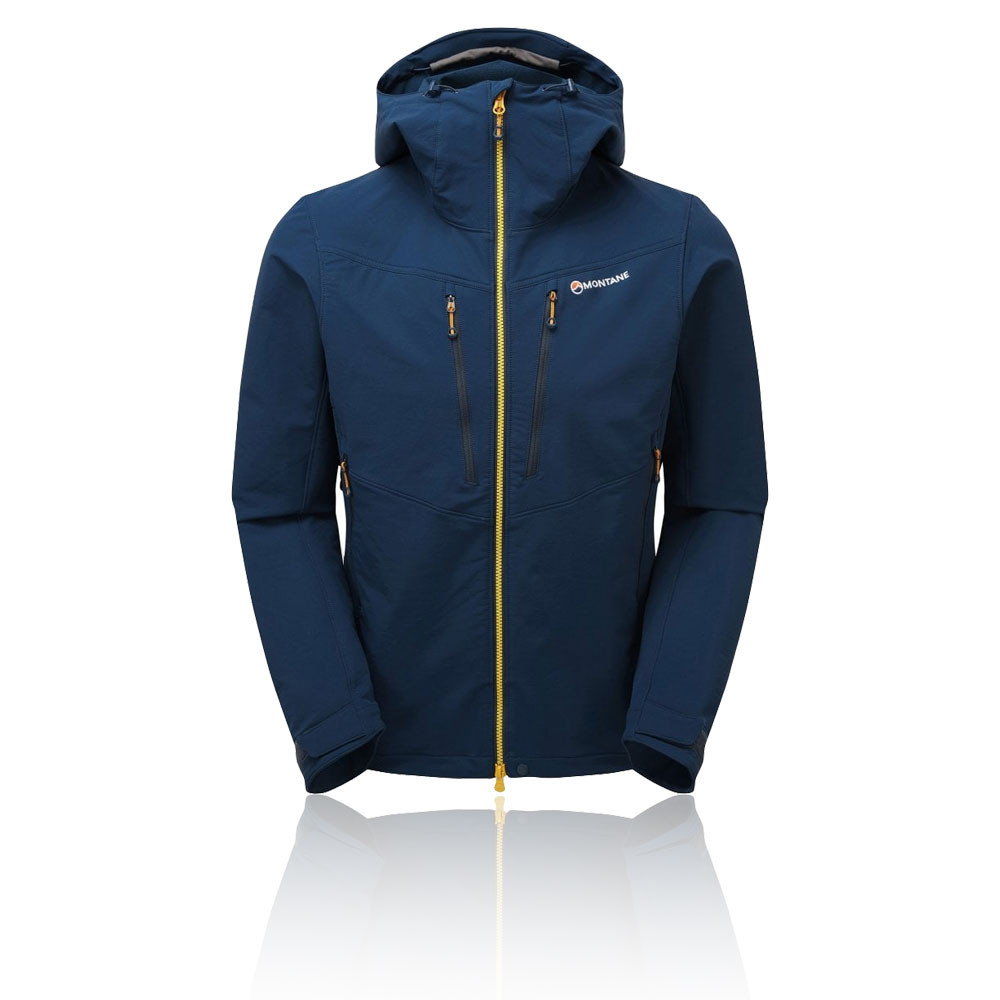 Navy Blue Sports Outdoors Full Zip Hooded Montane Mens Fireball Jacket Top