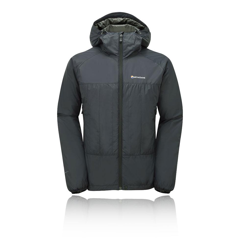 Montane Prism Mens Black Water Resistant Windproof Hooded Outdoors Jacket Top