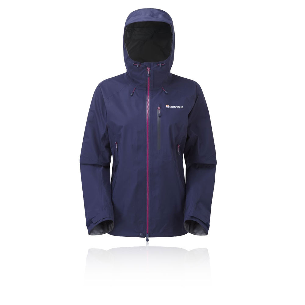 69c8fc84c83a Details about Montane Alpine Pro Womens Blue Windproof Full Zip Outdoor  Hooded Jacket Top