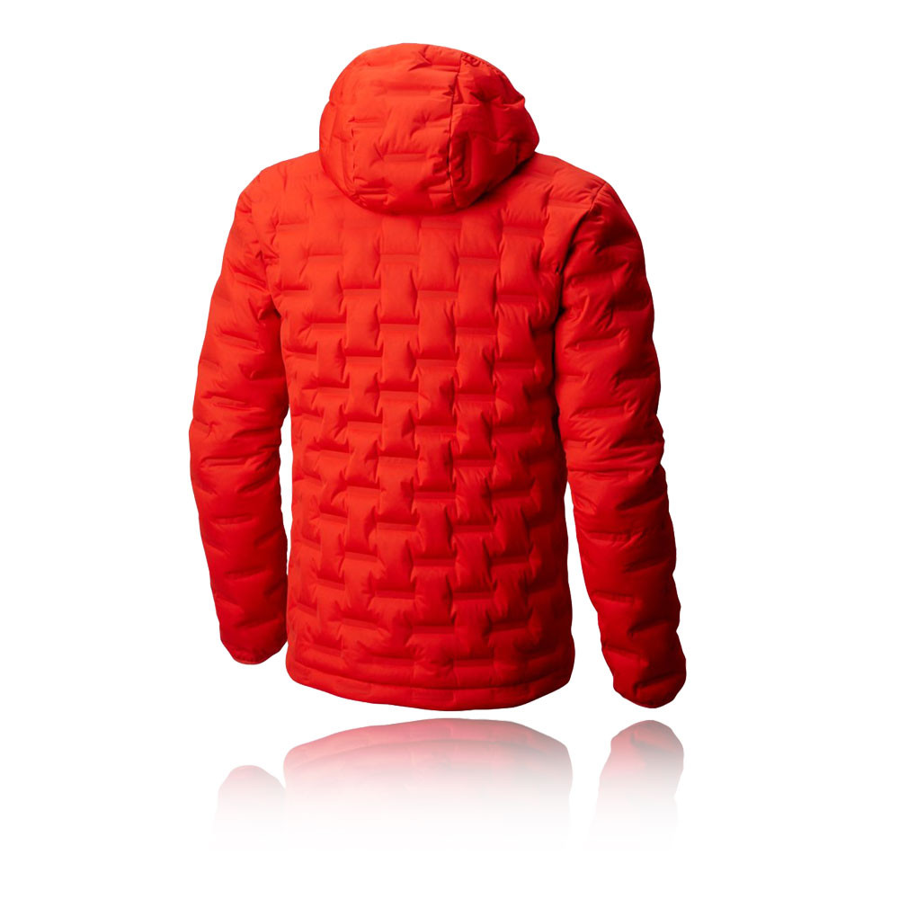 best service 5e4b4 4f254 Details about Mountain Hardwear Mens Stretch Down DS Hooded Jacket Top  Orange Red Sports