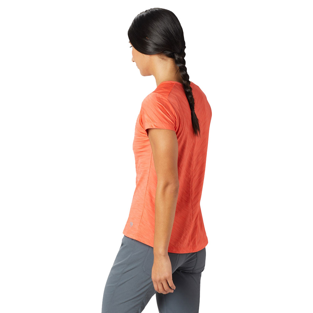 1238052eaa86 Finished a stylish stripe print, the Mountain Hardwear Mighty Stripe  Women's Short Sleeve T-shirt will have you looking as good as you'll feel  out on the ...