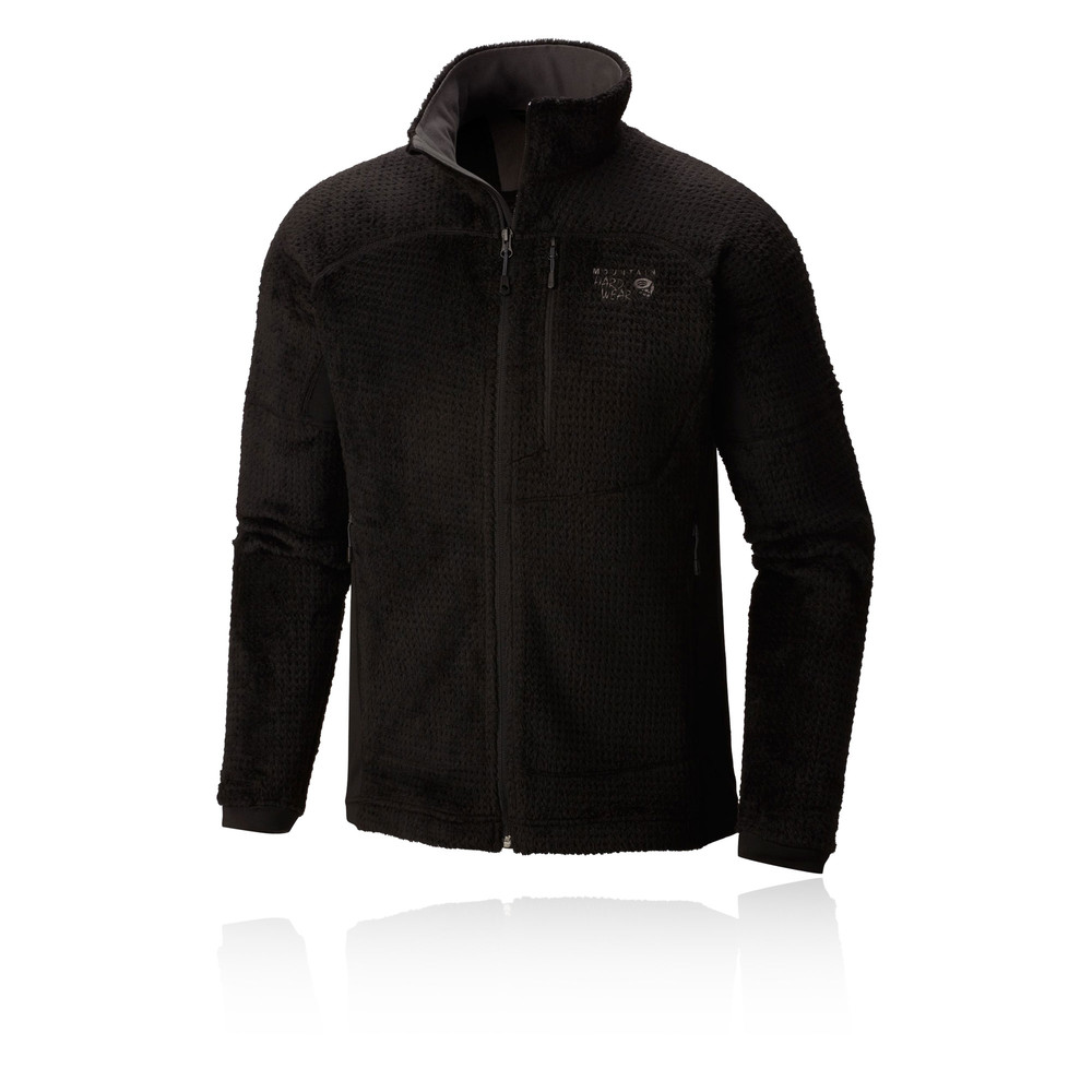 Mountain-Hardwear-Monkey-Grid-II-Mens-Black-Full-Zip-Running-Jacket-Top