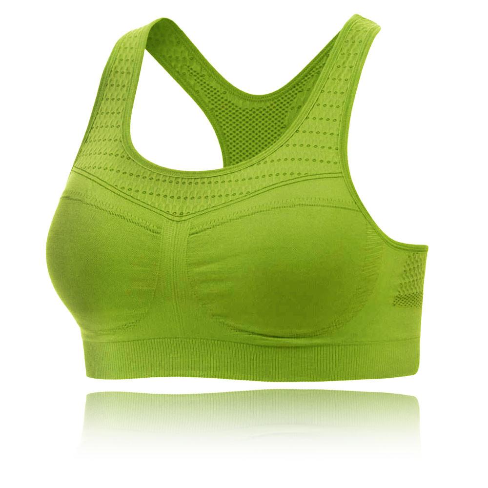 93d18b5dd7 Moving Comfort Womens Serena Bra Green Sports Gym Breathable Lightweight