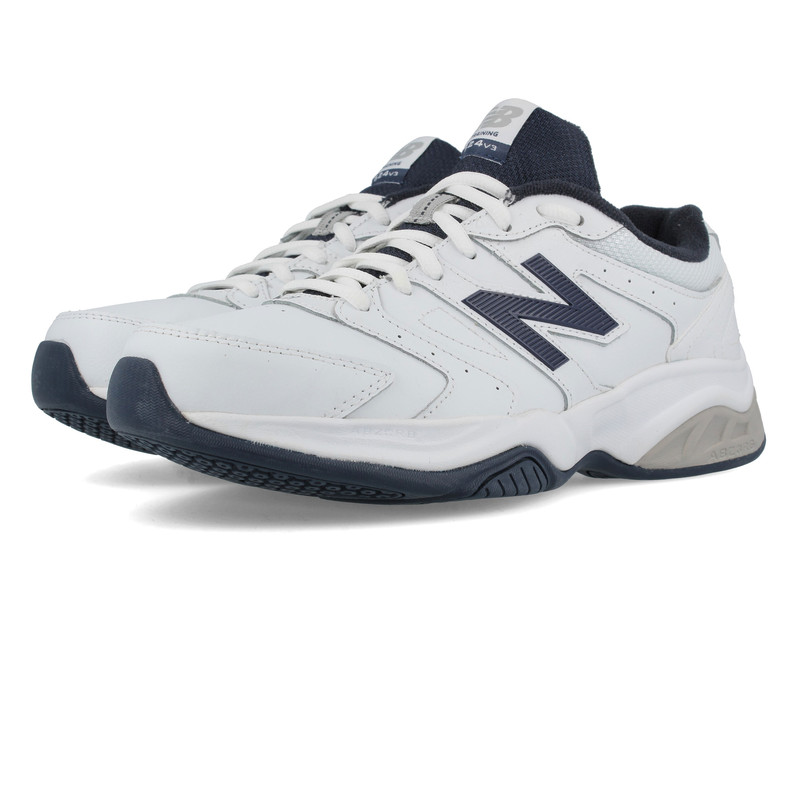 a568c15aa81 New Balance MX624v3 Mens White Leather Gym Cross Training Trainers Pumps  Shoes