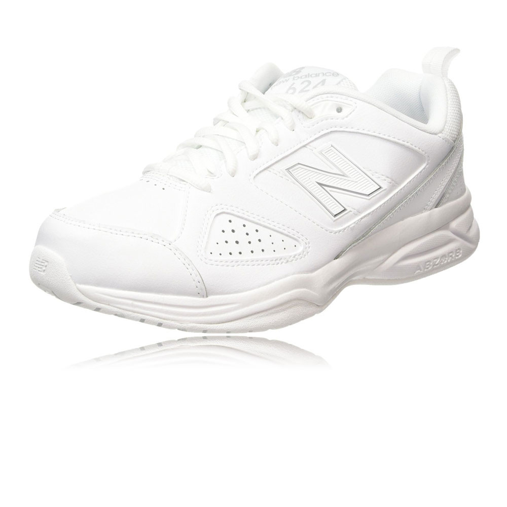 013aad37d32a8 Details about New Balance MX624V4 Mens White Cross Training Gym Shoes  Trainers 4E Width