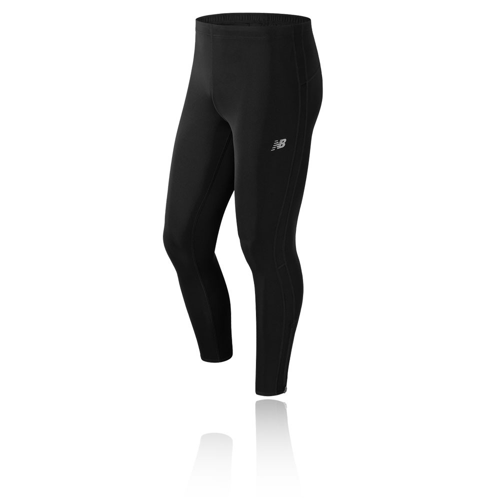 2437053aae Details about New Balance Accelerate Mens Black Running Long Tights Sports  Bottoms Pants