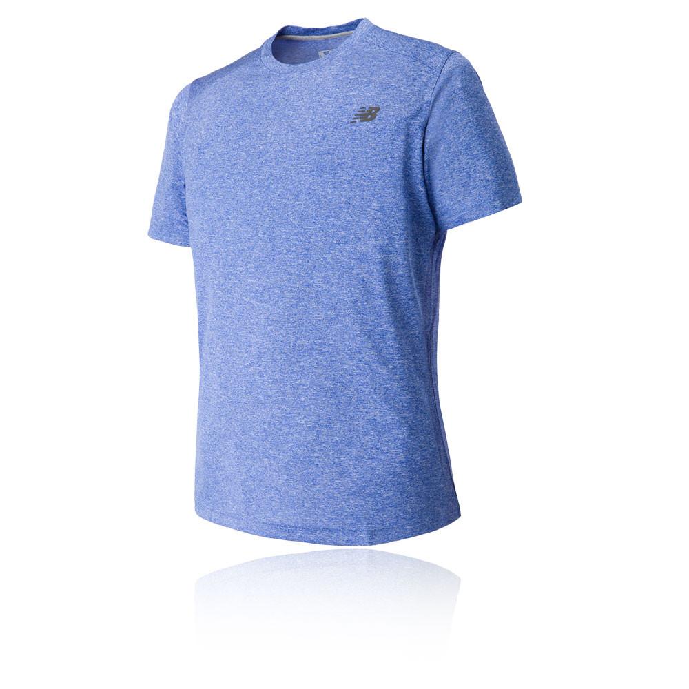 New Balance Short Sleeve Heather Tech Running T Shirt