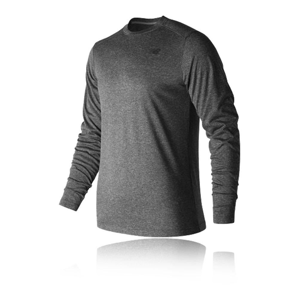 New balance heather tech long sleeve running t shirt for Long sleeve technical running shirt
