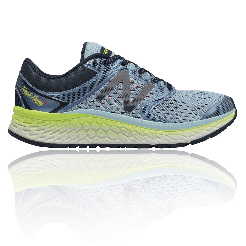 c396bdb1ad5 Details about New Balance W1080V7 Womens Blue Cushioned Running Sports  Shoes Trainers Pumps