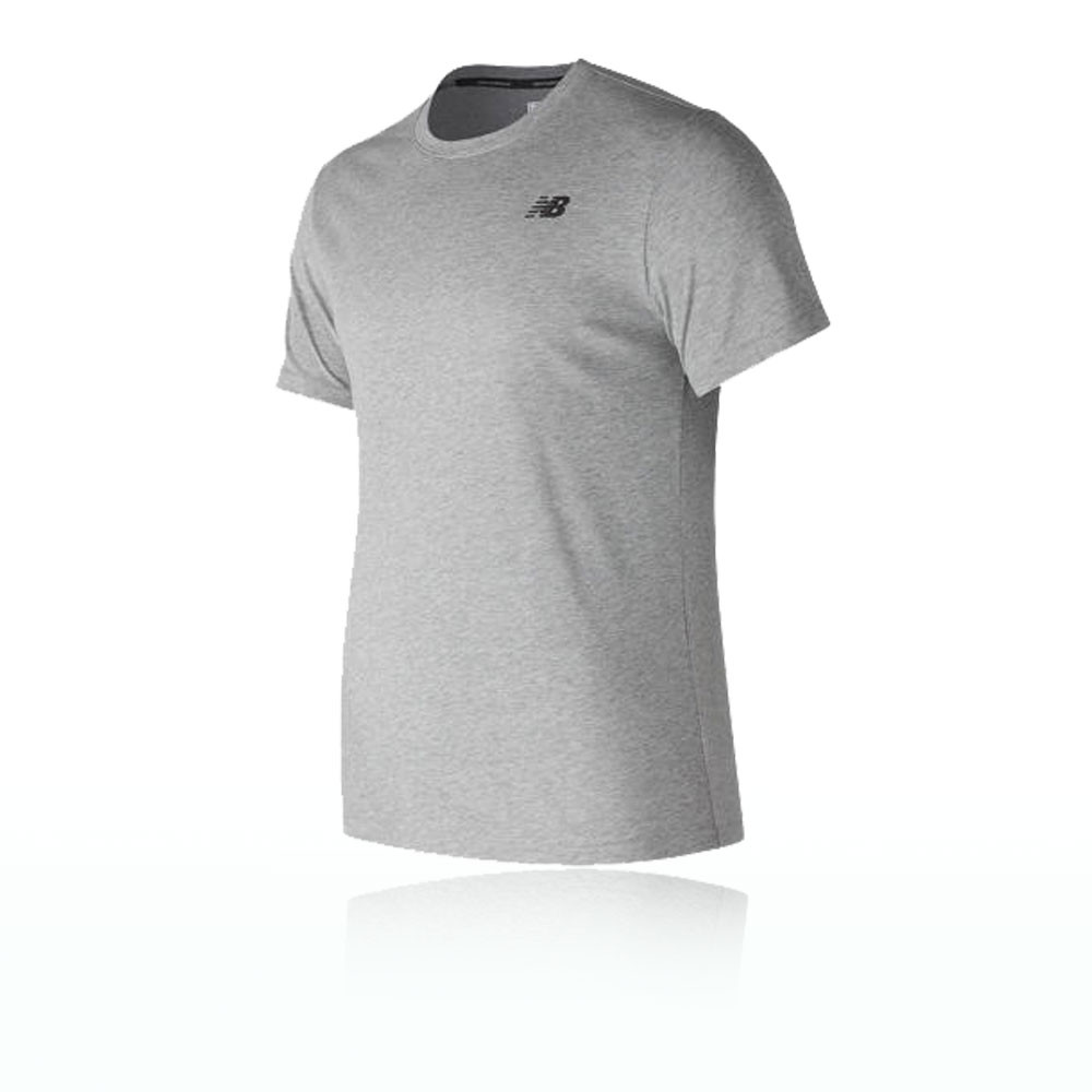 salir audiencia Mono  New Balance Hombre Heather Tech Camiseta Running Top Gris Deporte Correr |  eBay