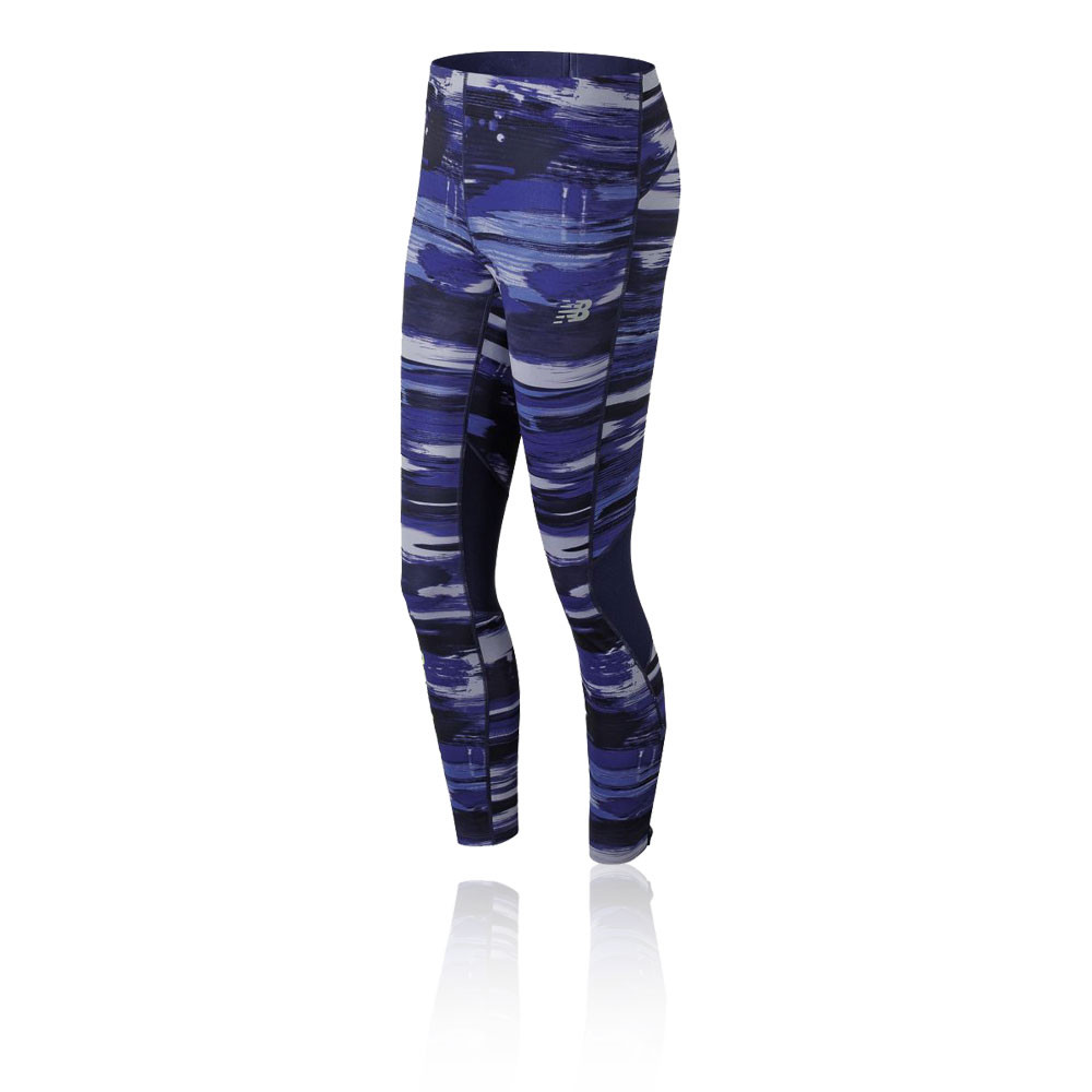 f521361b572 New Balance Mujer Impact Print Correr Mallas Fondo Pantalones Azul Entrenar