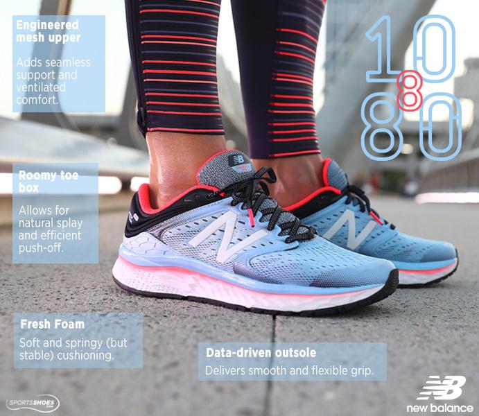 New Balance M1080v8 Running Shoes (2E Width) - SS1