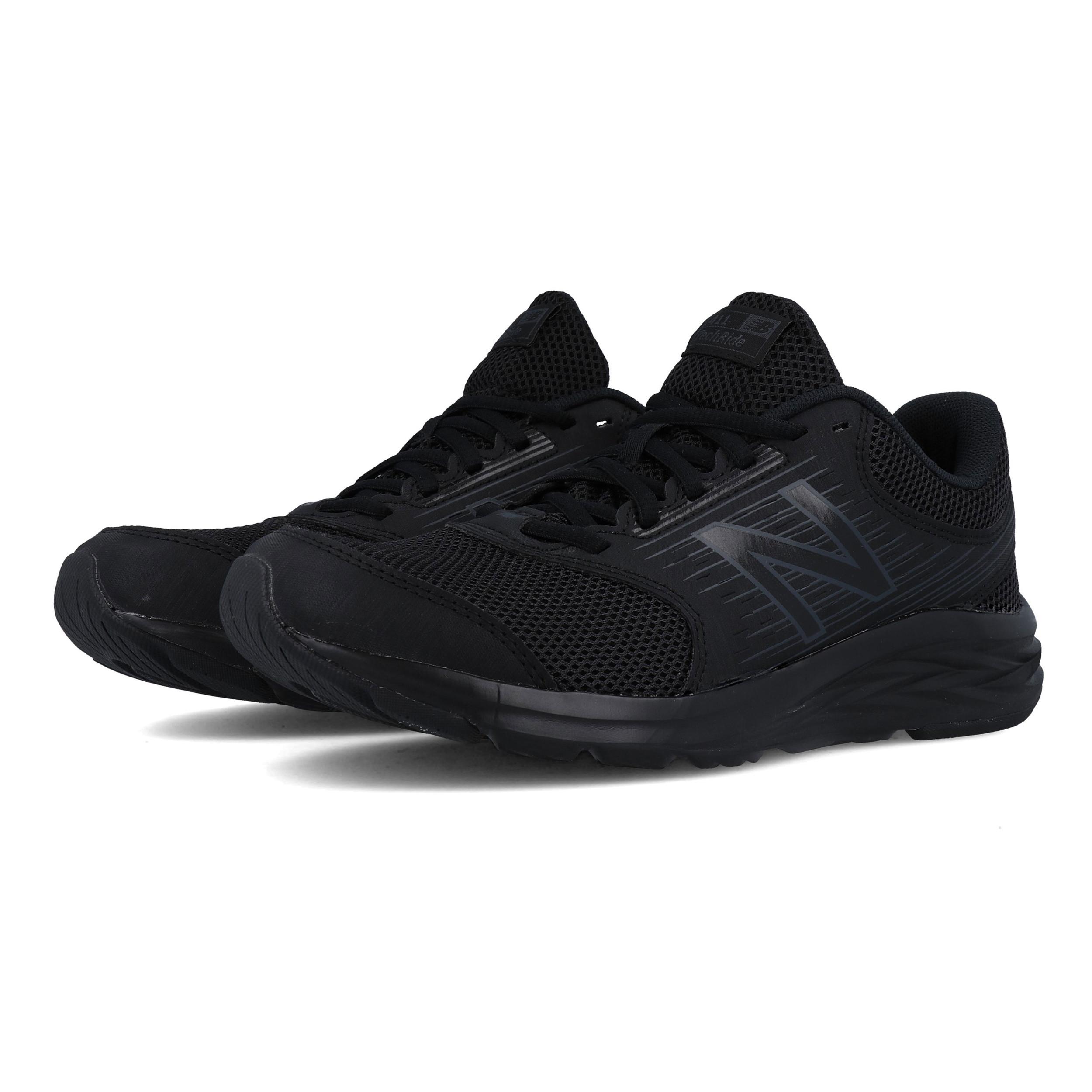 Detalles de New Balance Hombre 411v1 Correr Zapatos Zapatillas Negro Deporte Transpirable