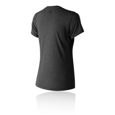 New Balance Heather Tech Crew para mujer camiseta de running