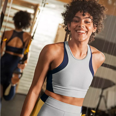 New Balance Hybrid Crop Sports Bra - AW19