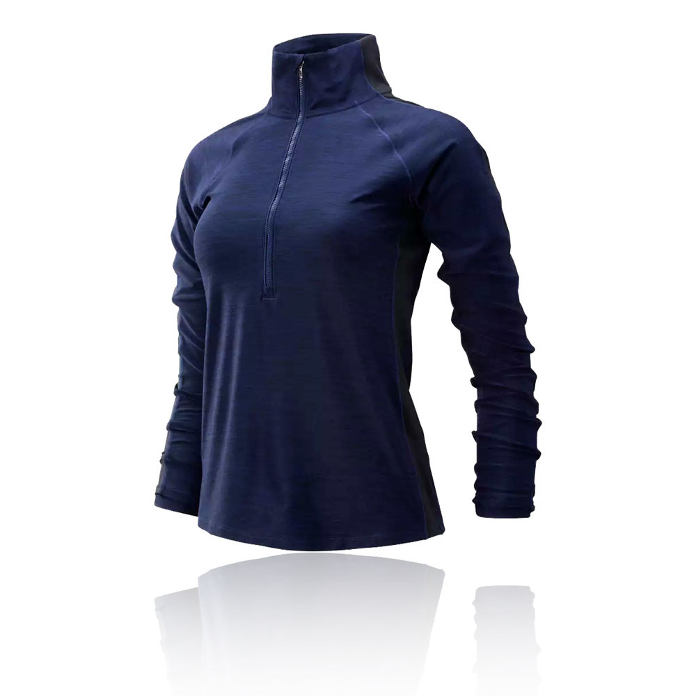 New Balance Transform para mujer media cremallera camiseta de running - AW19