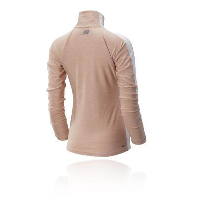 New Balance Transform para mujer media cremallera camiseta de running - AW19