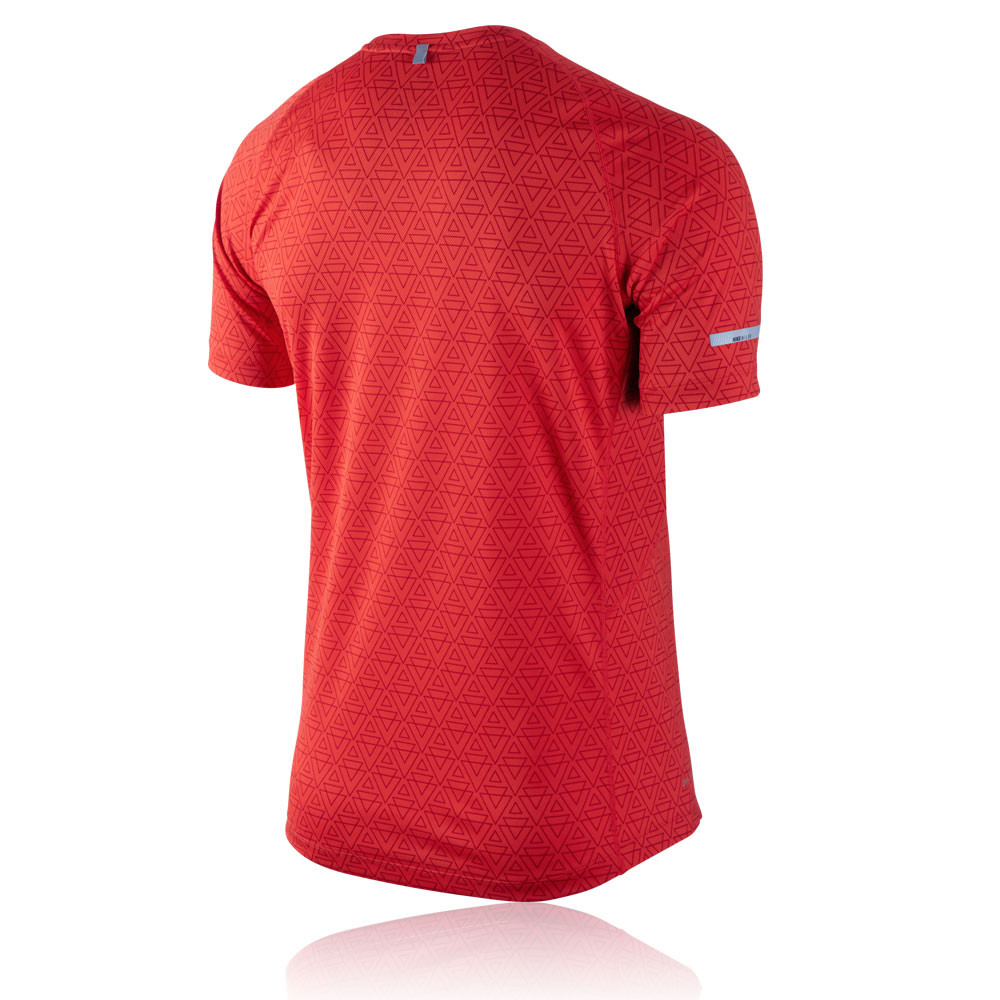 nike miler printed short sleeve running t shirt