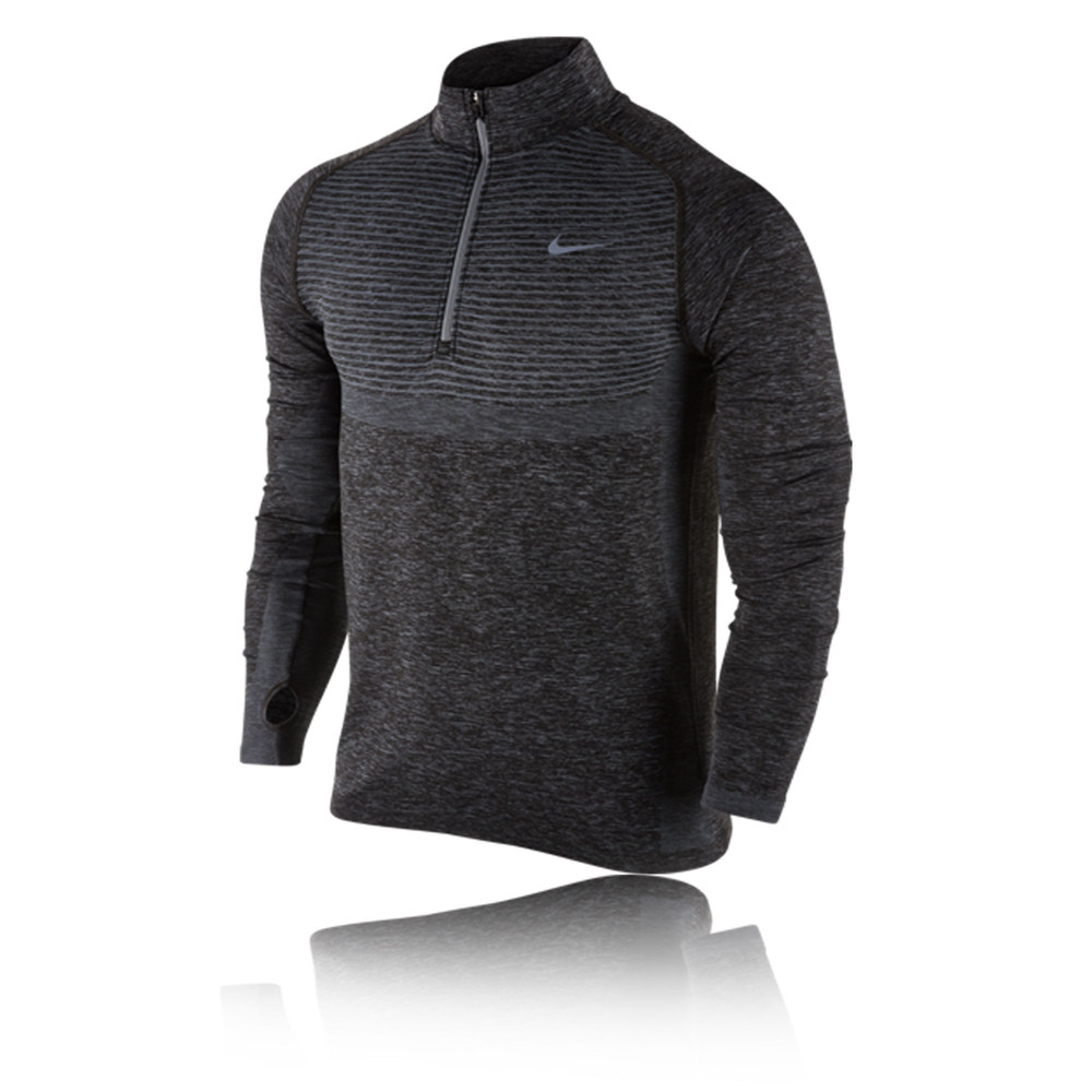 nike dri fit knit 1 2 zip running top sp16. Black Bedroom Furniture Sets. Home Design Ideas