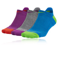 NIKE DRI-FIT CUSHION PARA MUJER CALCETÍN TOBILLERO 3 PAQUETE RUNNING CALCETINES - SP16
