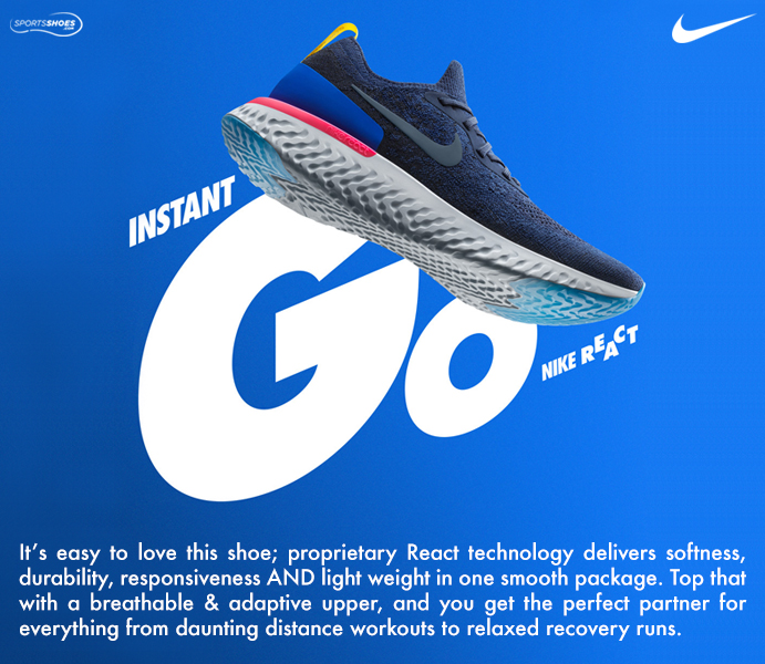 Nike Epic React Flyknit Running Shoes - SU18