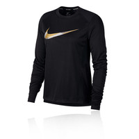 Nike Miler Metallic Women's Long Sleeve Running Top - HO18
