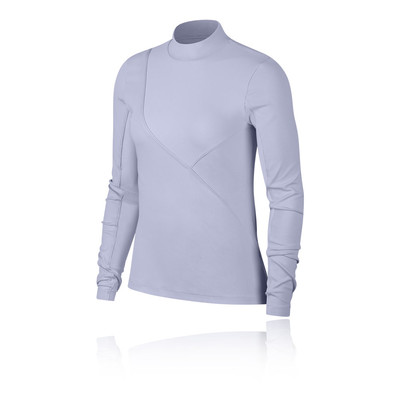 Nike Pro HyperCool para mujer Long-Sleeve Ribbed Top - SP19