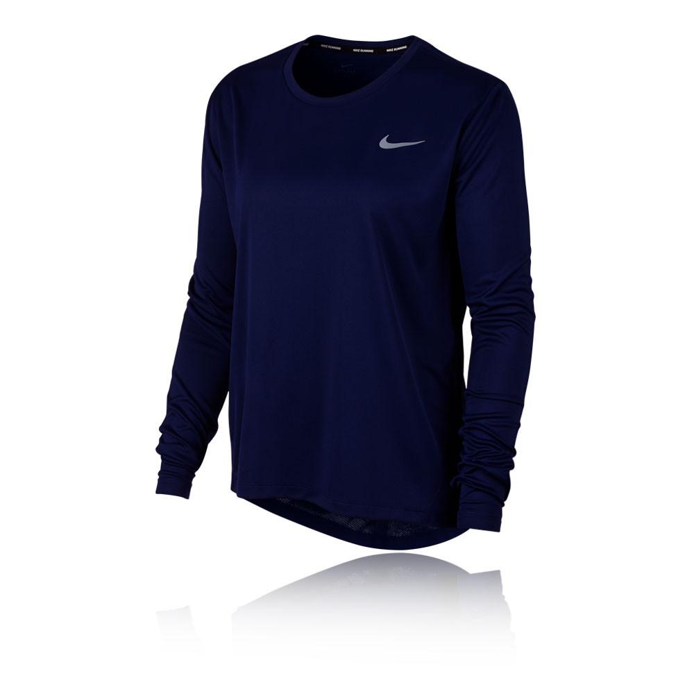 gran venta diseñador de moda estilos clásicos Nike Miler de manga larga para mujer camiseta de running - SP19