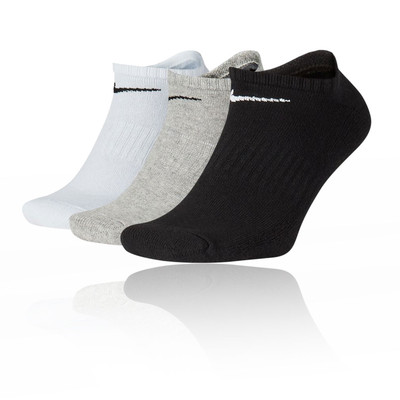 Nike Everyday Cushion No-Show Training calcetines (3 Pack) - SP20