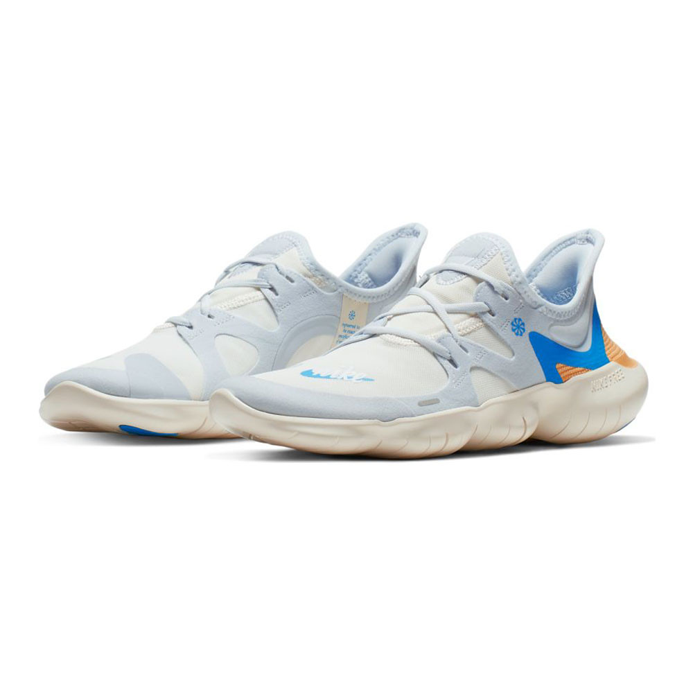 Nike Free RN 5.0 W Football Grey/Sail/White/Blue Hero