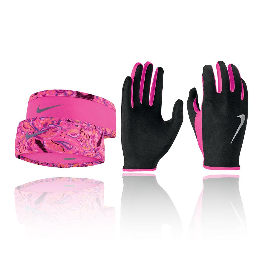 Nike Run Dry para mujer cinta and guante Set - HO19