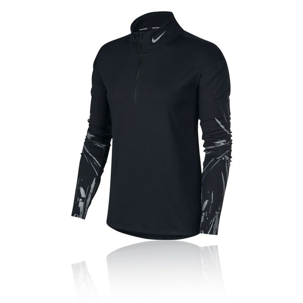 Nike Element media cremallera para mujer camiseta de running - HO19