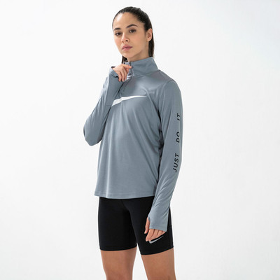 Nike media cremallera para mujer camiseta de running - SP20